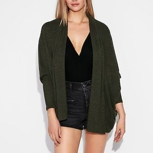 Express One Eleven Plush Hooded Cover Up